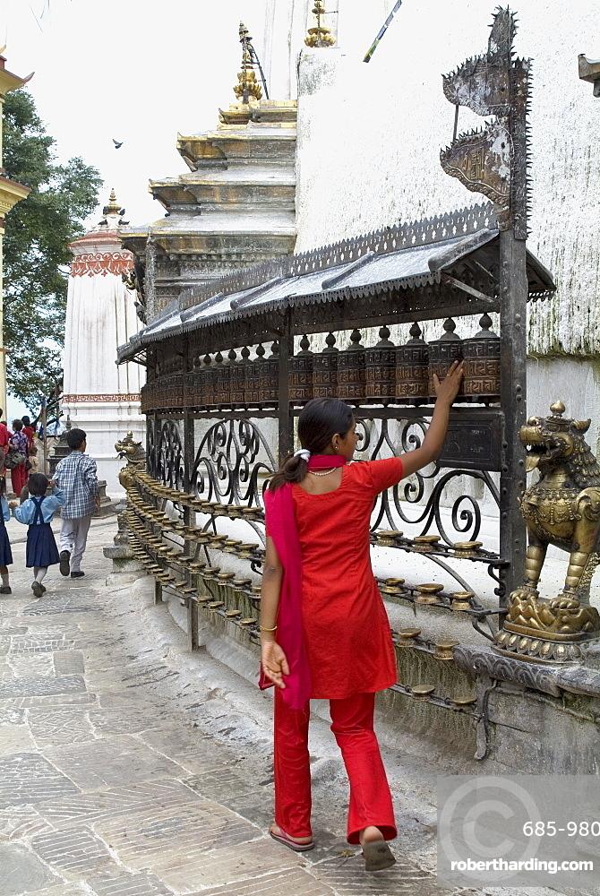Swayambhunath (Monkey Temple), Kathmandu, Nepal, Asia