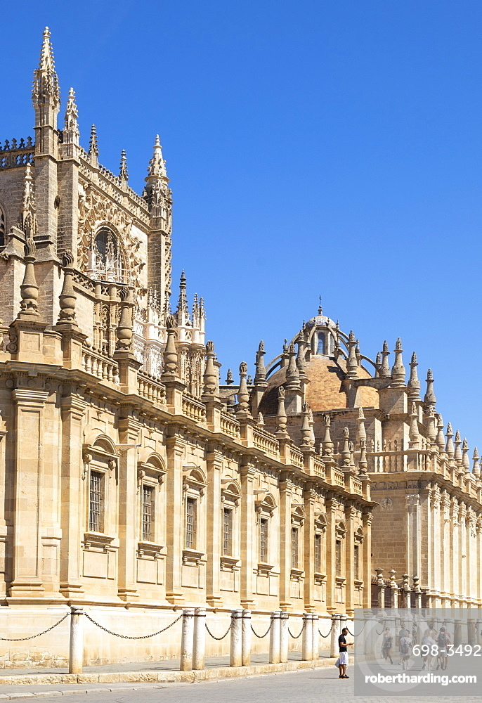Seville Cathedral of Saint Mary of the See, UNESCO World Heritage Site, Calle Fray Ceferino Gonzalez, Seville, Andalusia, Spain, Europe