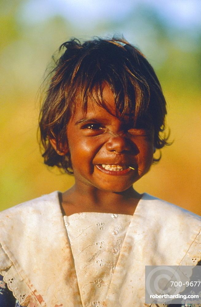 Young aborigine girl, Australia