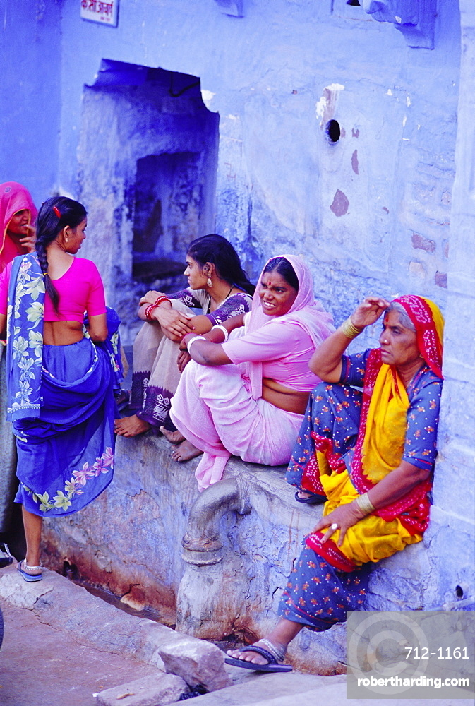 The blue town, Jodhpur, Rajasthan, India