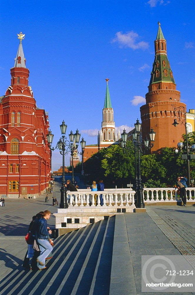 Manezhnaya Square and the Kremlin, Moscow, Russia