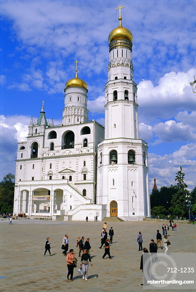 Campanile (bell tower) of Ivan the Great, Kremlin, Moscow, Russia