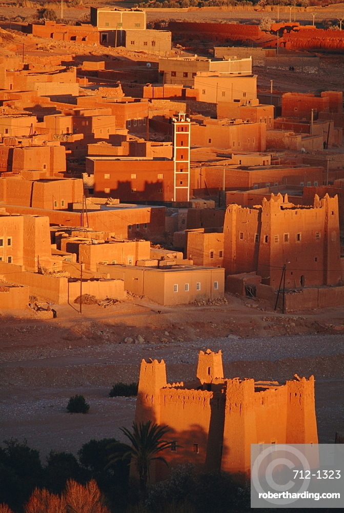 Kasbah and town of Imiter, Dades Valley, High Atlas region, Morocco, North Africa