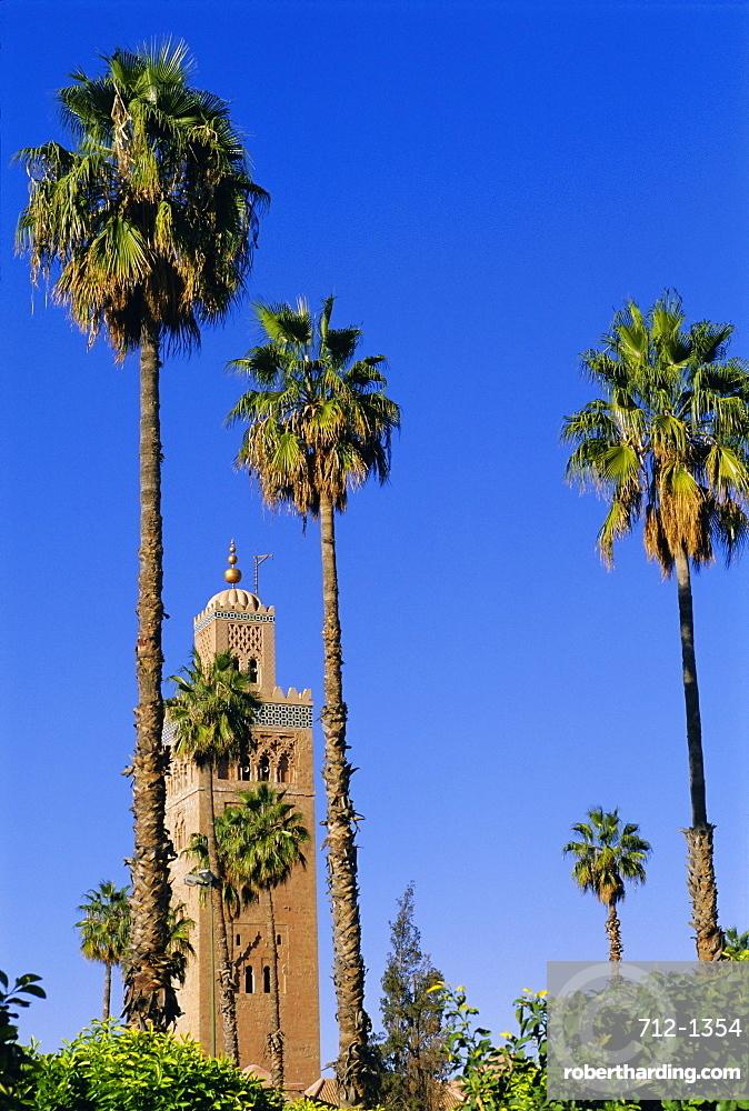 Koutoubia Minaret, Marrakech (Marrakesh), Morocco, Africa