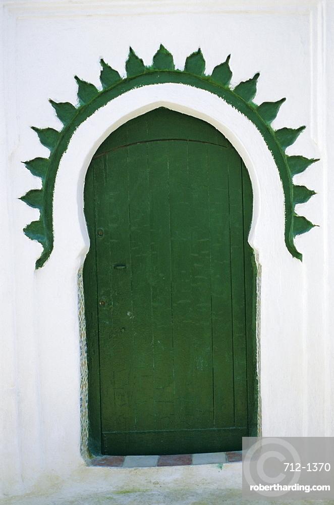 Green door, Tangier, Morocco, Africa