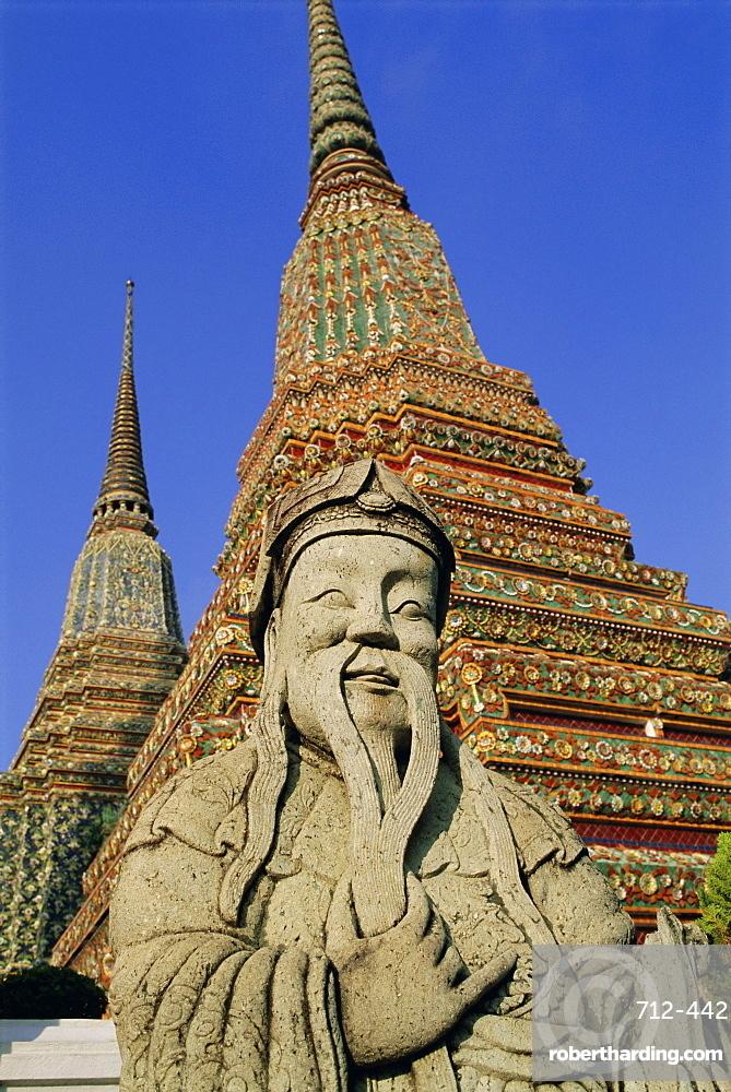 Wat Po (Wat Phra Chetuphon) (Wat Pho), Bangkok, Thailand, Asia