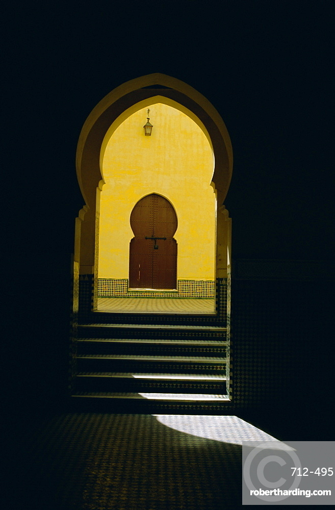 The tomb of Moulay Ismail, Meknes, Morocco, North Africa, Africa