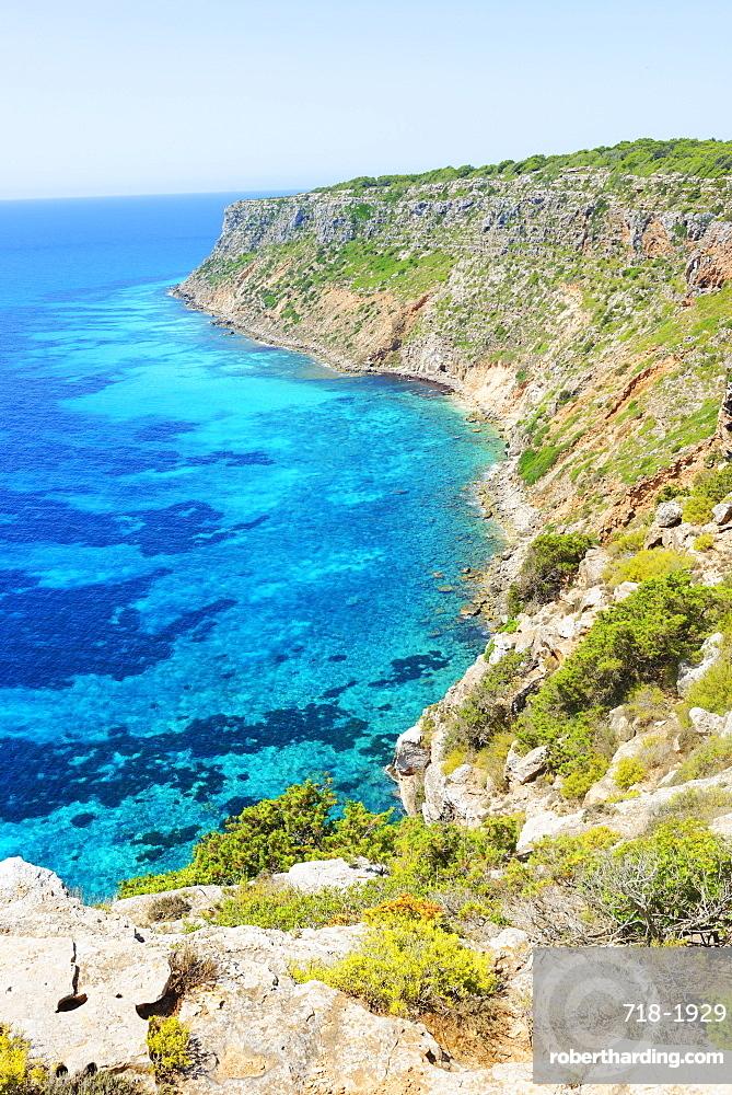 Pilar de sa Mola, Formentera, Balearic Islands, Spain, Mediterranean, Europe