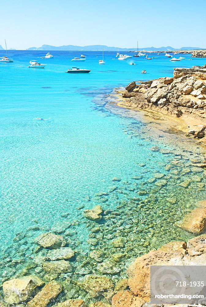 Formentera turquoise waters, Formentera, Balearic Islands, Spain, Mediterranean, Europe