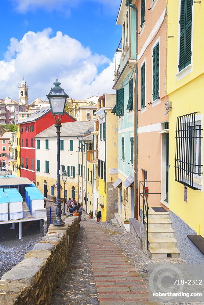 Footpath in the picturesque village of Bogliasco, Bogliasco, Liguria, Italy, Europe