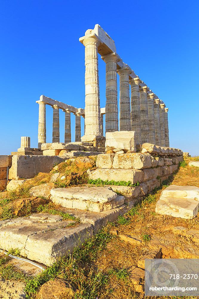 Temple of Poseidon, Cape Sounion, Attica, Greece, Europe
