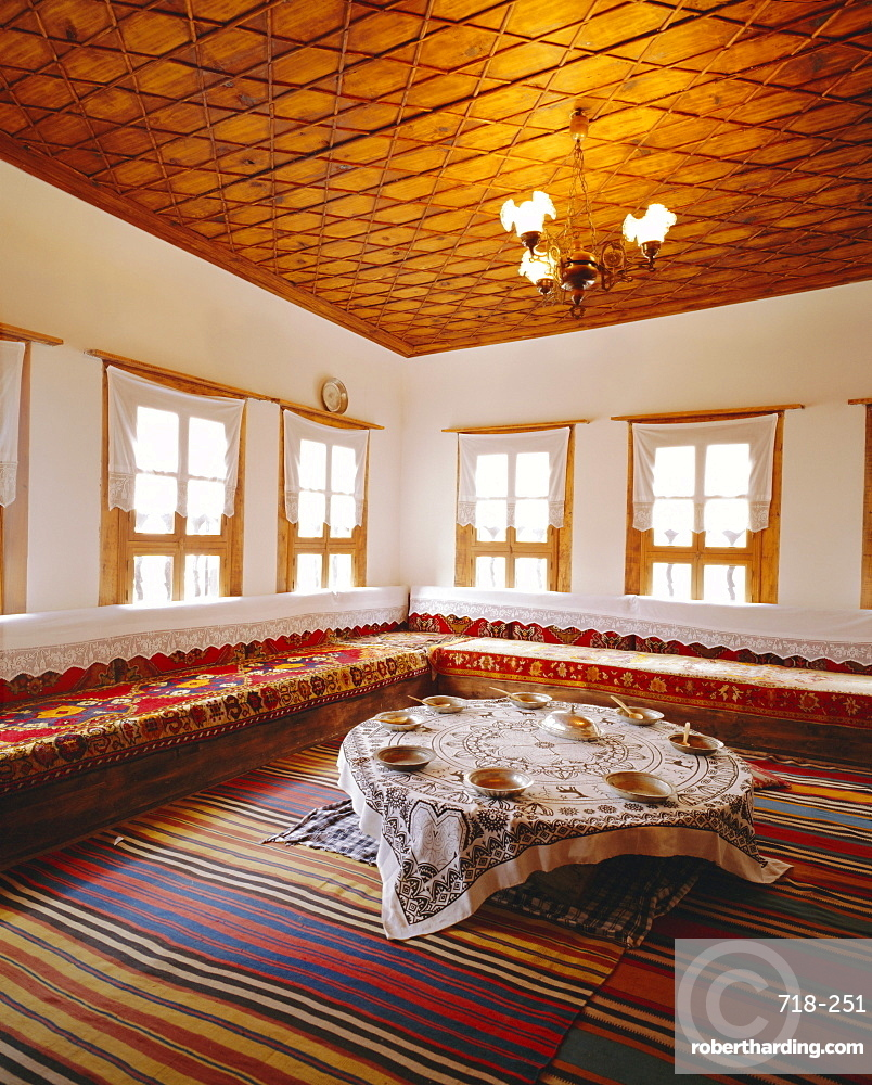 Typical interior of an Ottoman house, Safranbolu, Turkey, Europe