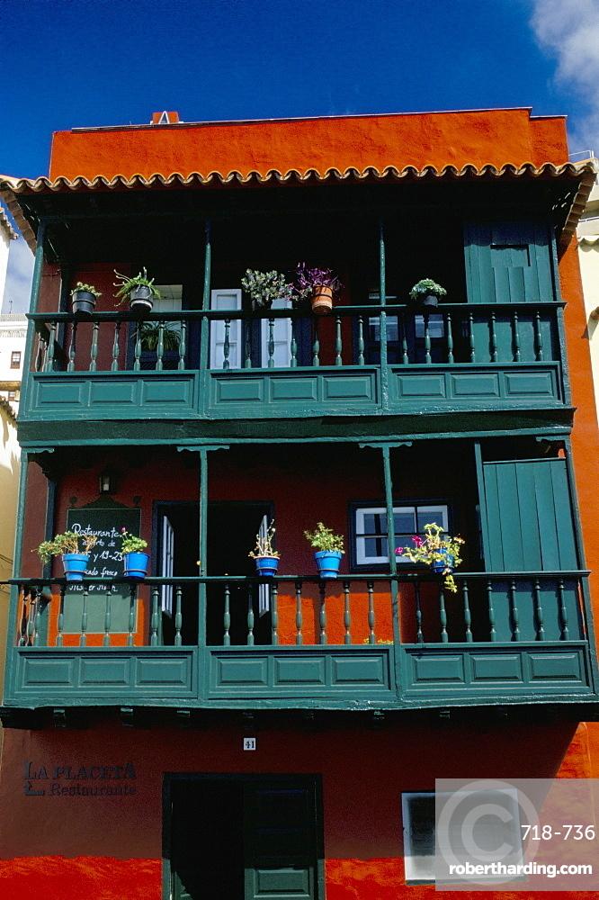 Casa de los Balcones (typical Canarian house with balcony), Santa Cruz de la Palma, La Palma, Canary Islands, Spain, Atlantic, Europe