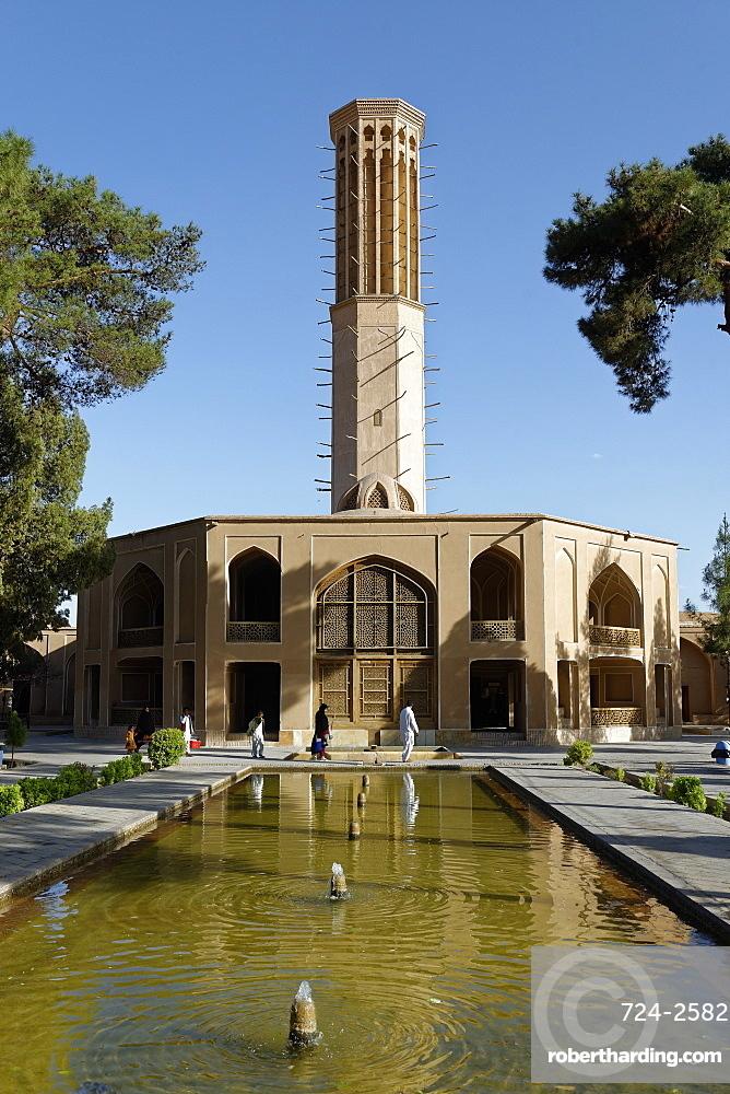 Windtower (wind catcher), Dowlat Abat Garden pavilion, Yazd city, Iran, Middle East