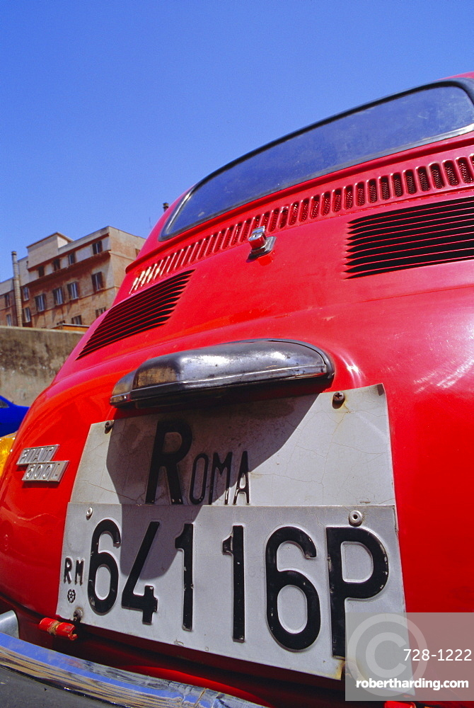 Red Fiat, Rome, Italy