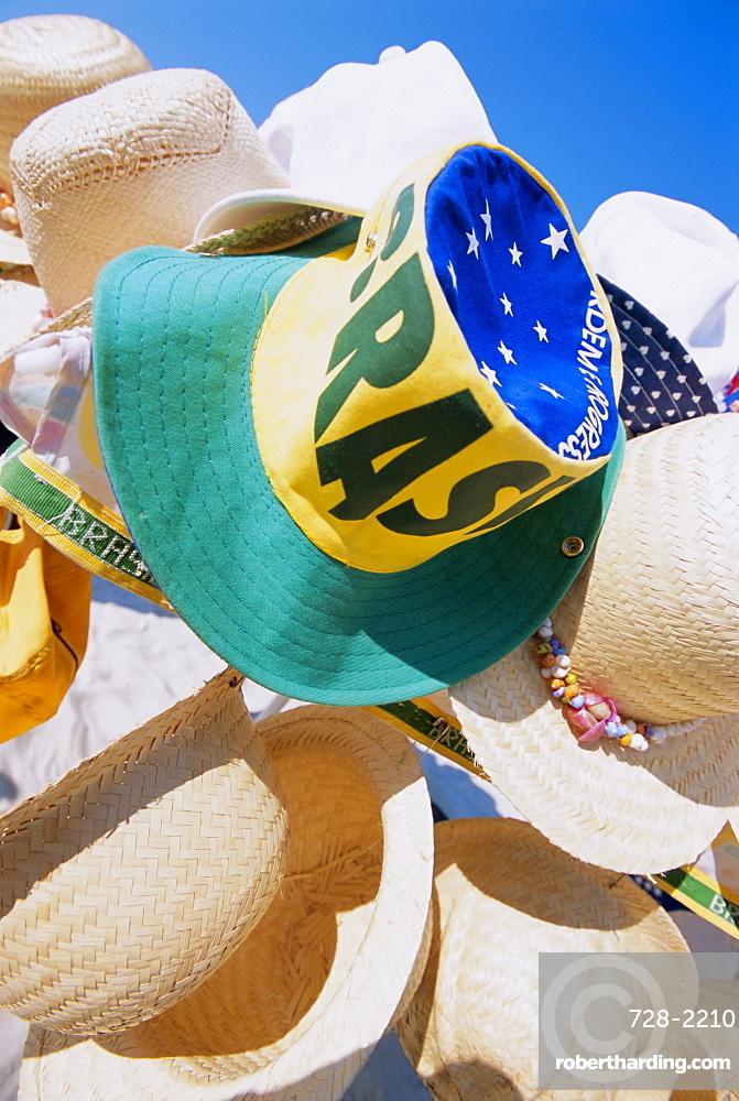 Hats for sale, Rio de Janeiro, Brazil, South America