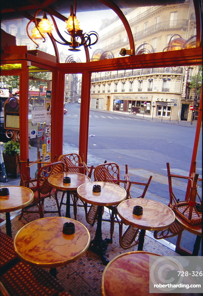 Tables in a cafe, Paris, France