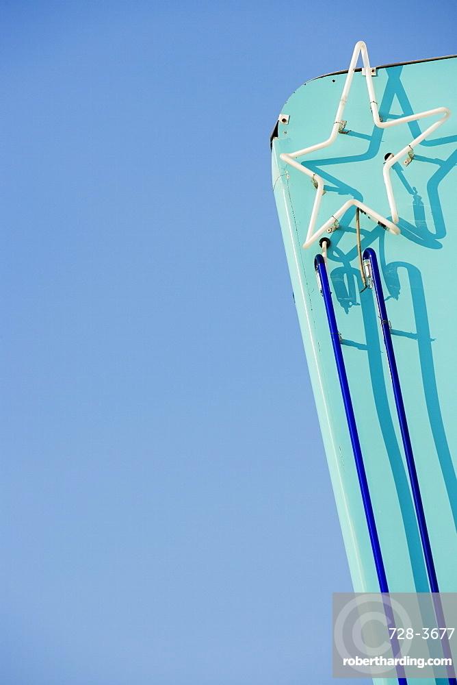 Art Deco star, South Beach, Miami, Florida, United States of America, North America