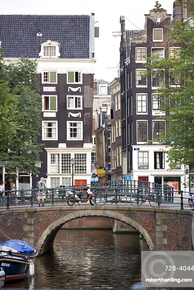 Bridge and canal, Amsterdam, Holland (The Netherlands), Europe