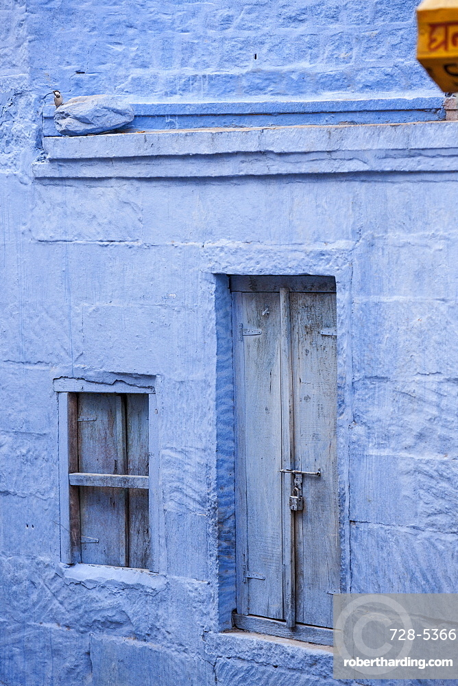 Blue building, Jodhpur, Rajasthan, India, Asia