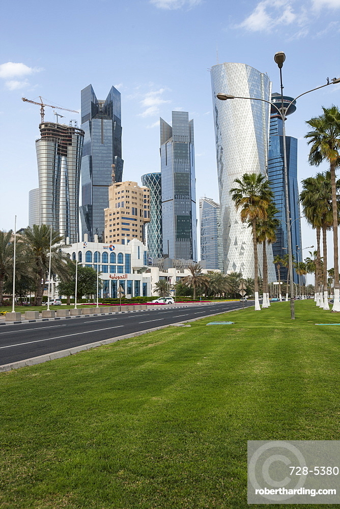 Buildings in Doha, Qatar, Middle East