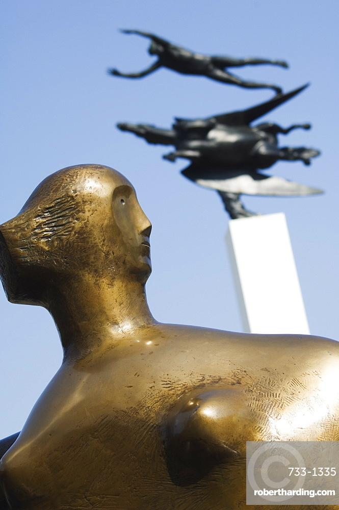 Modern sculptures and art displays at Hakone Open Air Museum, Chokokuno mori, Hakone, Kanagawa prefecture, Japan, Asia