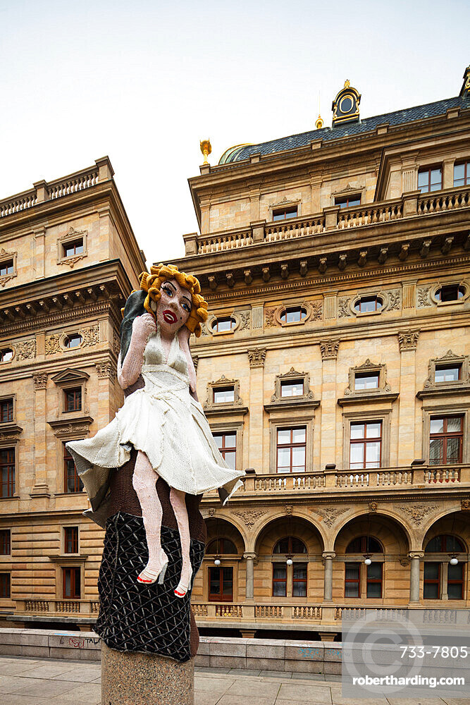 Statue of Marilyn Monroe outside the National Theatre, Prague, Czech Republic, Europe
