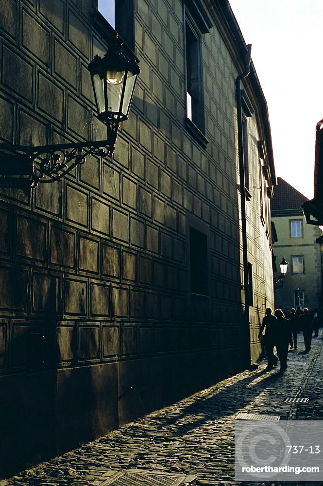 Golden Lane (Zlata ulicka), Prague Castle, Hradcany, Prague, Czech Republic, Europe