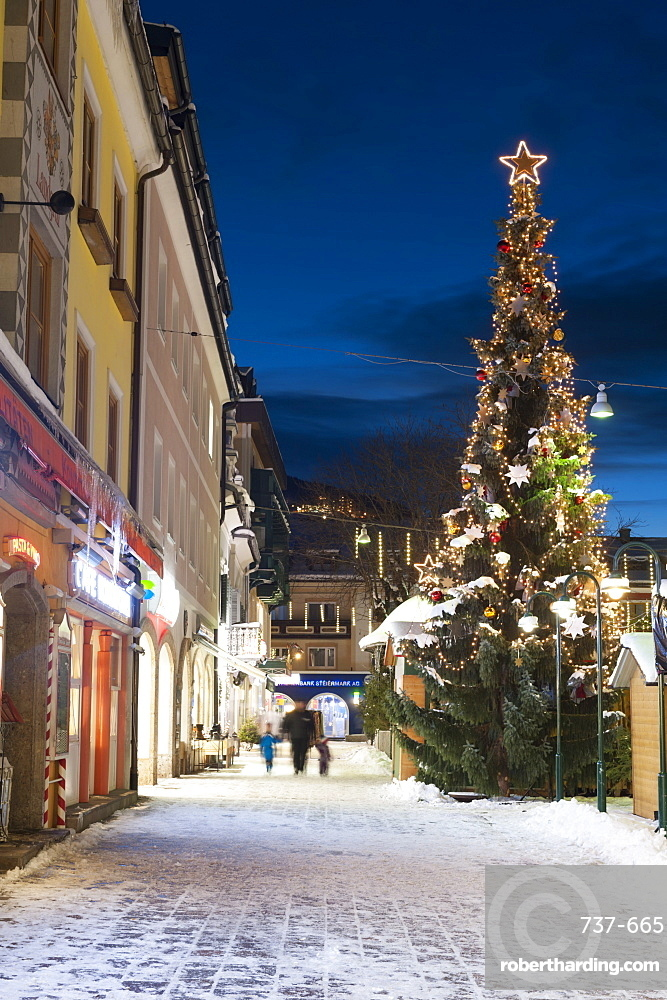 Christmas market, Haupt Square, Schladming, Steiermark, Austria, Europe
