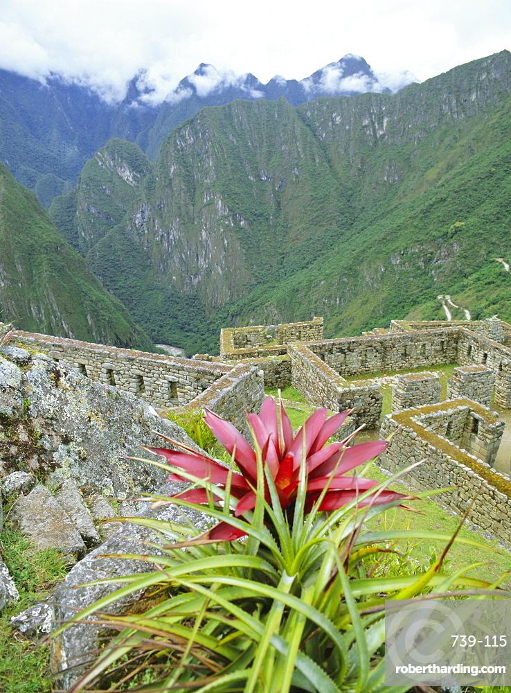 Inca ruins, Machu Picchu, UNESCO World Heritage Site, Peru, South America