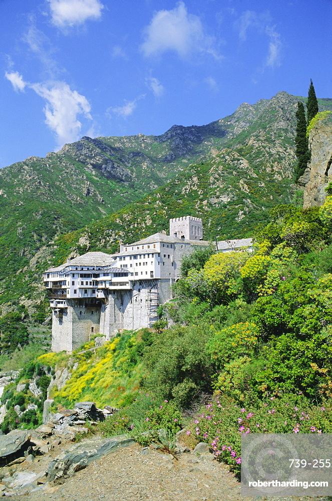 Monastery, Athos, UNESCO World Heritage Site, Greece, Europe