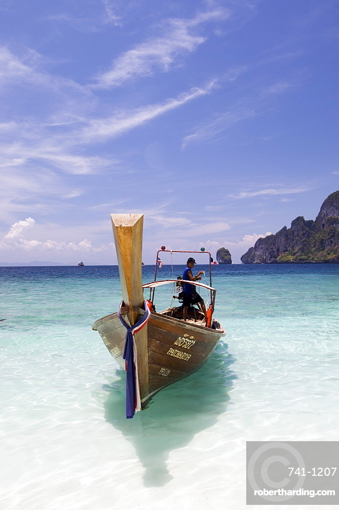 Yong Kasem beach, known as Monkey Beach, Phi Phi Don Island, Thailand, Southeast Asia, Asia