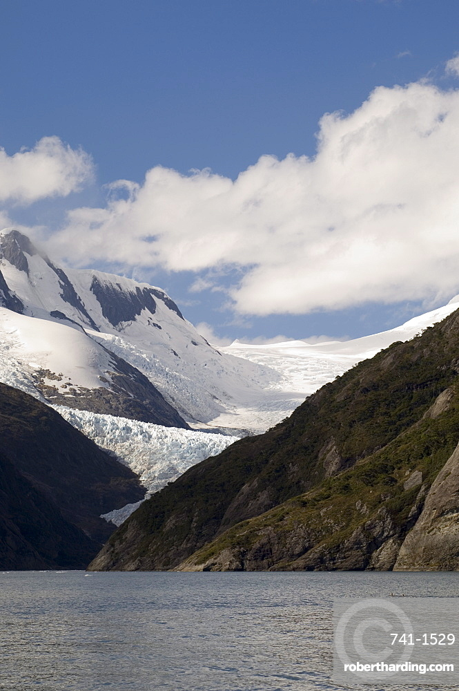 Garibaldi Glacier, Garibaldi Fjord, Darwin National Park, Tierra del Fuego, Patagonia, Chile, South America