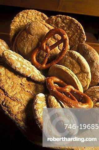 Bread, Profanter bakery, Bressanone, Trentino Alto Adige, Italy.