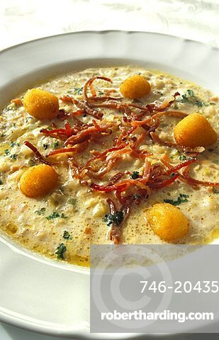Cimbra soup, La Lepre Bianca restaurant, Asiago, Veneto, Italy