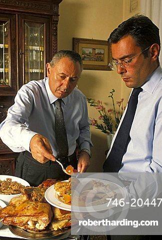 Agostino Campari owner, Campari restaurant, Abbiategrasso, Lombardy, Italy
