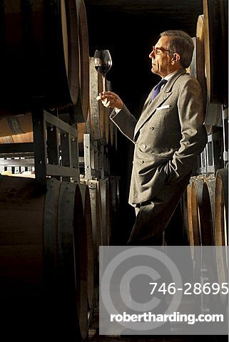 Wine tasting , Barolo, Piedmont, Italy.