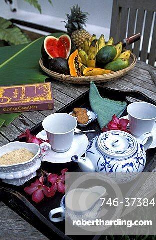 Breakfast, Sun House hotel, Galle, Sri Lanka, Asia
