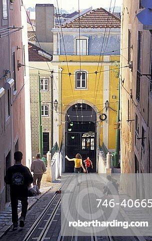 Elevador da Bica, Lisbona, Portugal, Europe