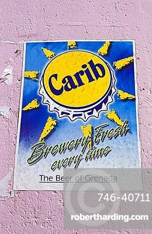 Carib beer, Grenada island, Caribbean, Central America