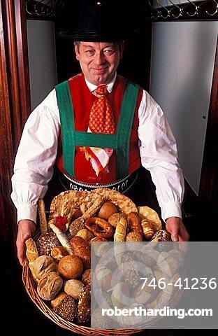 Heinrich Pfitscher owner, Preti Francescani bakery, Val Pusteria, Trentino  Alto Adige, Italy