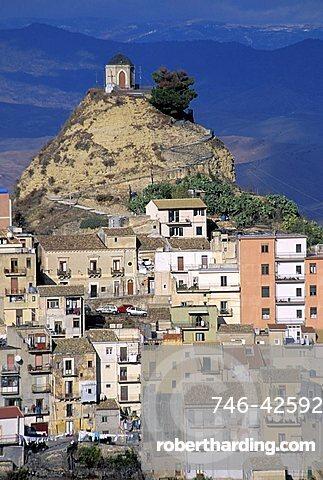 Cityscape, Centuripe, Sicily, Italy