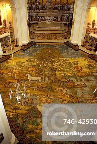 Mosaic, San Michele church, Anacapri, Capri island, Campania, Italy