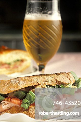 Capriccioso sandwich, Gattullo café, Milan, Lombardy, Italy