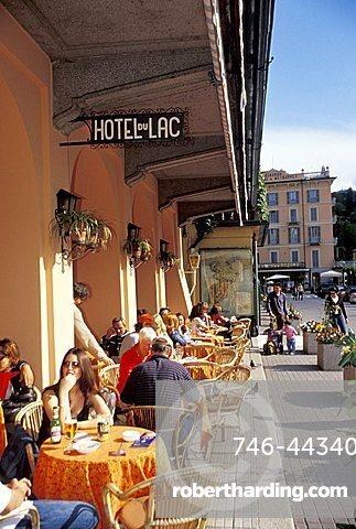 Hotel Du Lac cafe, Bellagio, Como lake, Lombardy, Italy