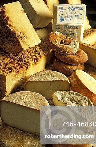 Casera cheese, Tognolina shop, Sondrio, Lombardy, Italy