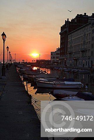 Canal Grande towards the Adriatic Sea, Trieste, Friuli Venezia Giulia, Italy, Europe