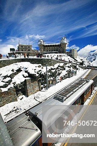 Gornergrat railway, Zermatt, Valais, Switzerland, Europe