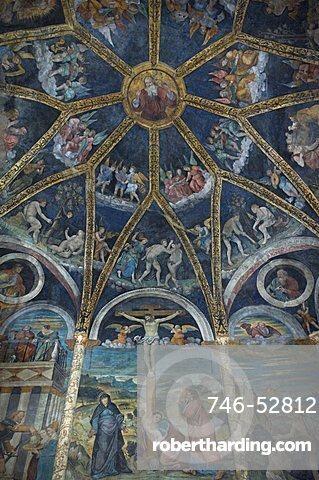 Paolo da Cailina frescoes, St. John baptist, Edolo, Lombardy, Italy