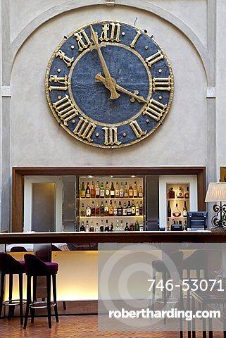 Bar and restaurant, Grand Hotel Continental, Siena, Tuscany, Italy